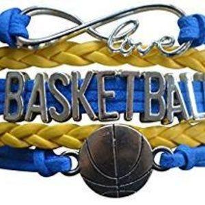 Girls Basketball Bracelet - Blue & Yellow